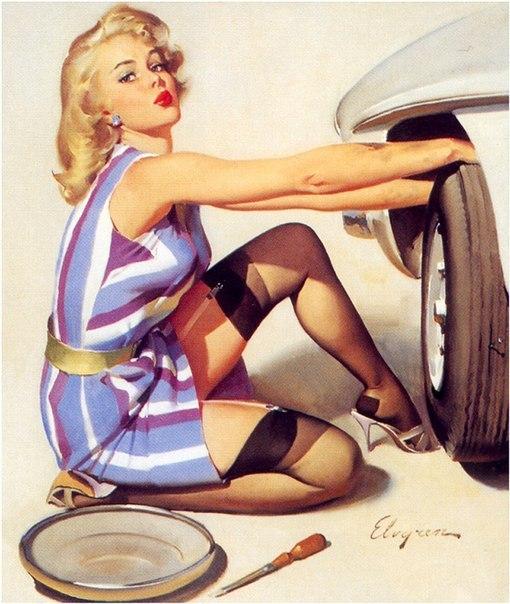 Pin-Up и автомобили