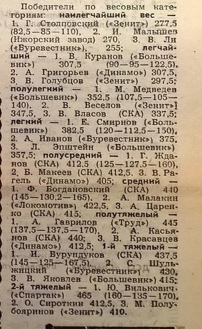 1963 год. Ленинград. Тяжелая атлетика