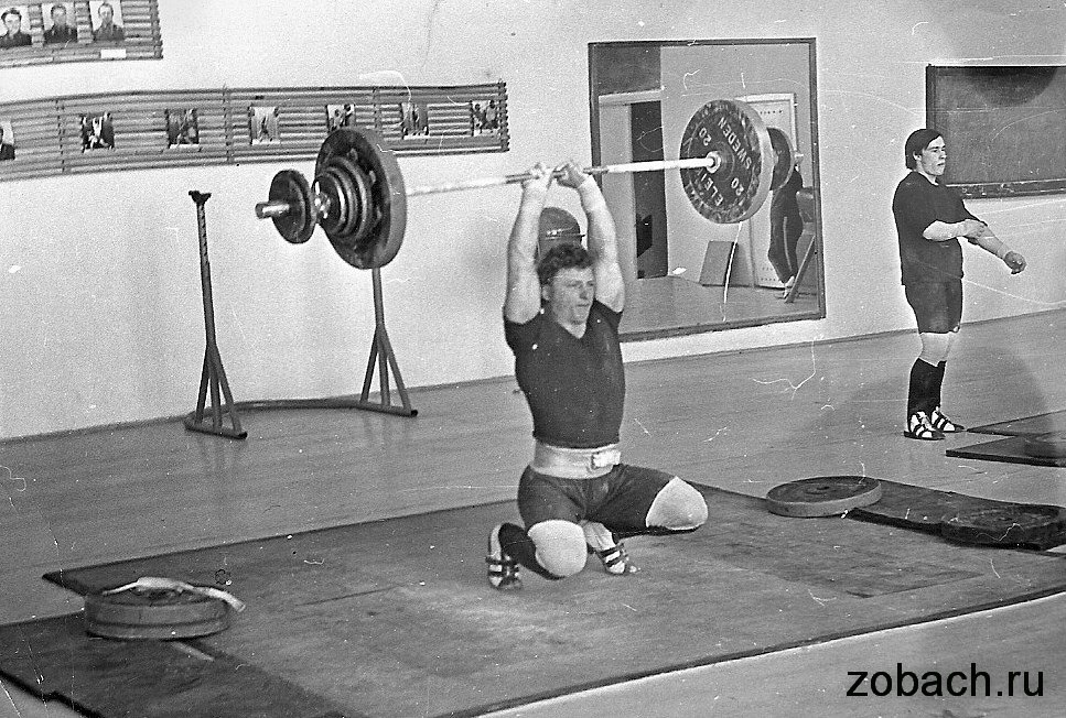 Snatch with a narrow grip. Training in the USSR