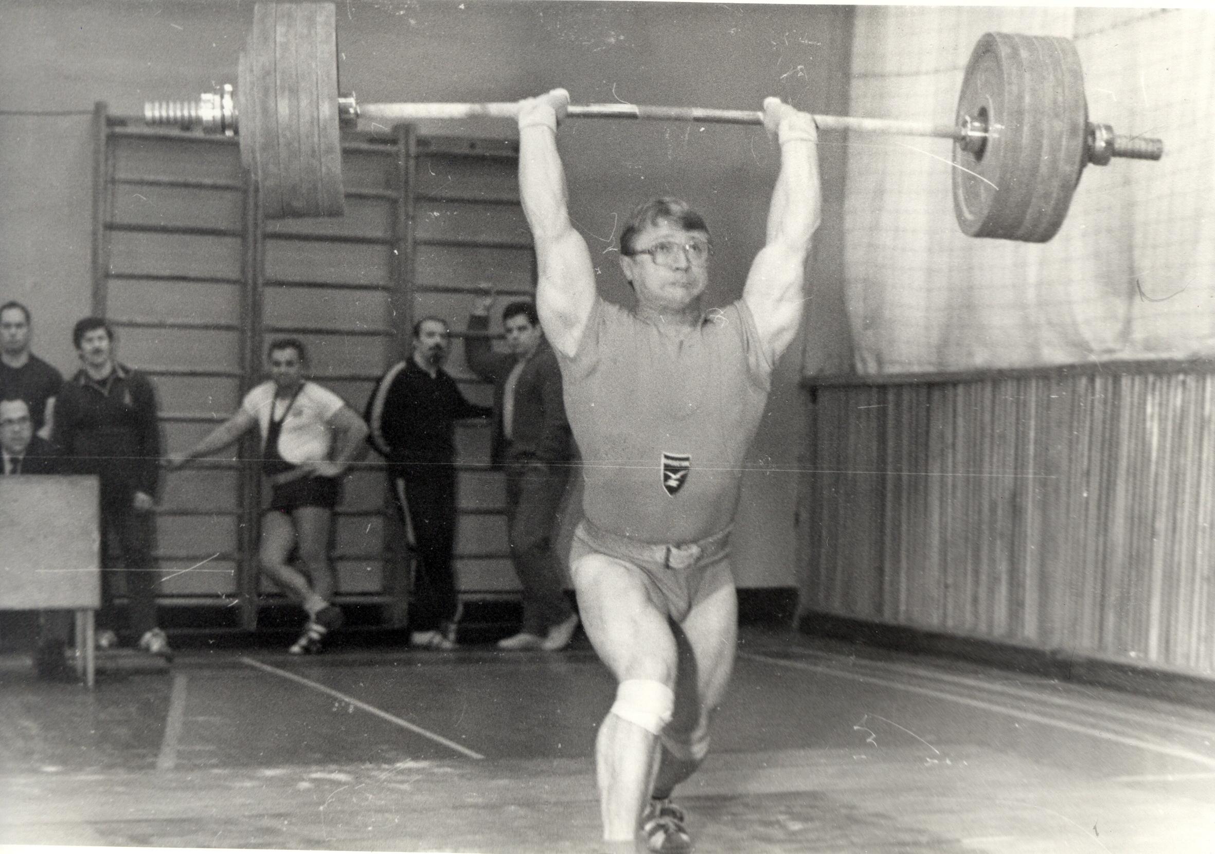 Последний архивный протокол по тяжелой атлетике Ленинград 1986