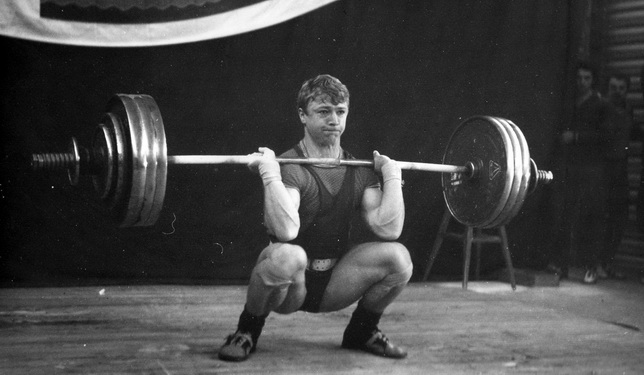1973. The best weightlifters of Leningrad