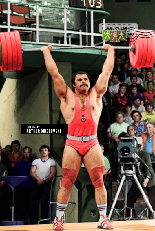 Anatoly Pisarenko 3world records:202,5; 258,5 & 457,5 kg (1982)